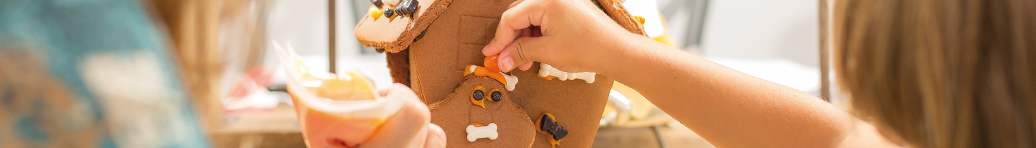 Build Gingerbread Cookie Haunted Houses